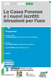 POF 2017 - DEONTOLOGIA - La Cassa Forense e i nuovi iscritti