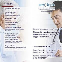 Corso di aggiornamento sul tema: Rapporto Medico-Paziente