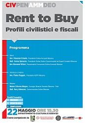 POF 2017 – CIVILE - Rento To Buy. Profili civilistici e fiscali.