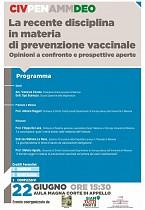 POF 2017 – CIVILE E DEONTOLOGIA La recente disciplina in materia di prevenzione vaccinale.
