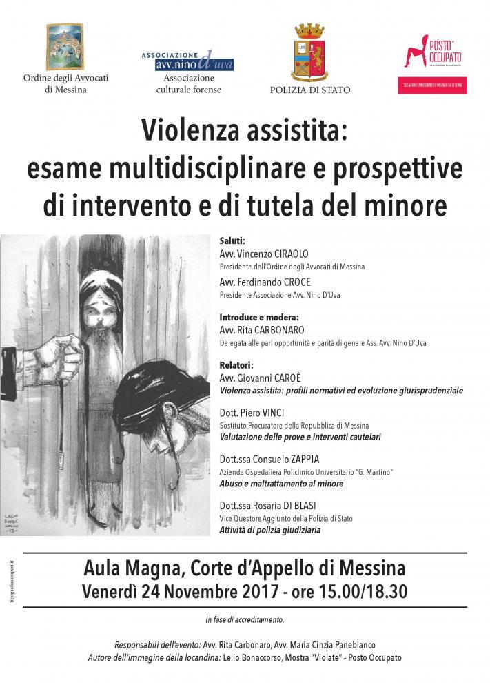 Violenza assistita: esame multidisciplinare e prospettivedi intervento e di tutela del minore