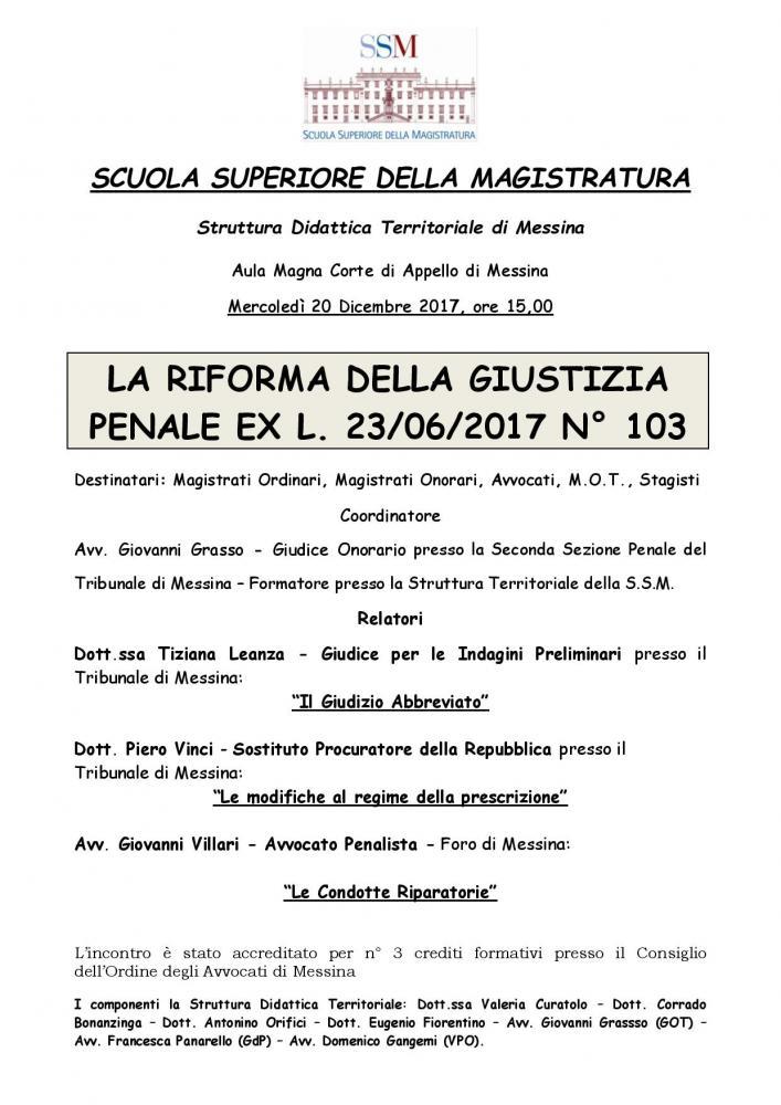 SSM - La riforma della Giustizia