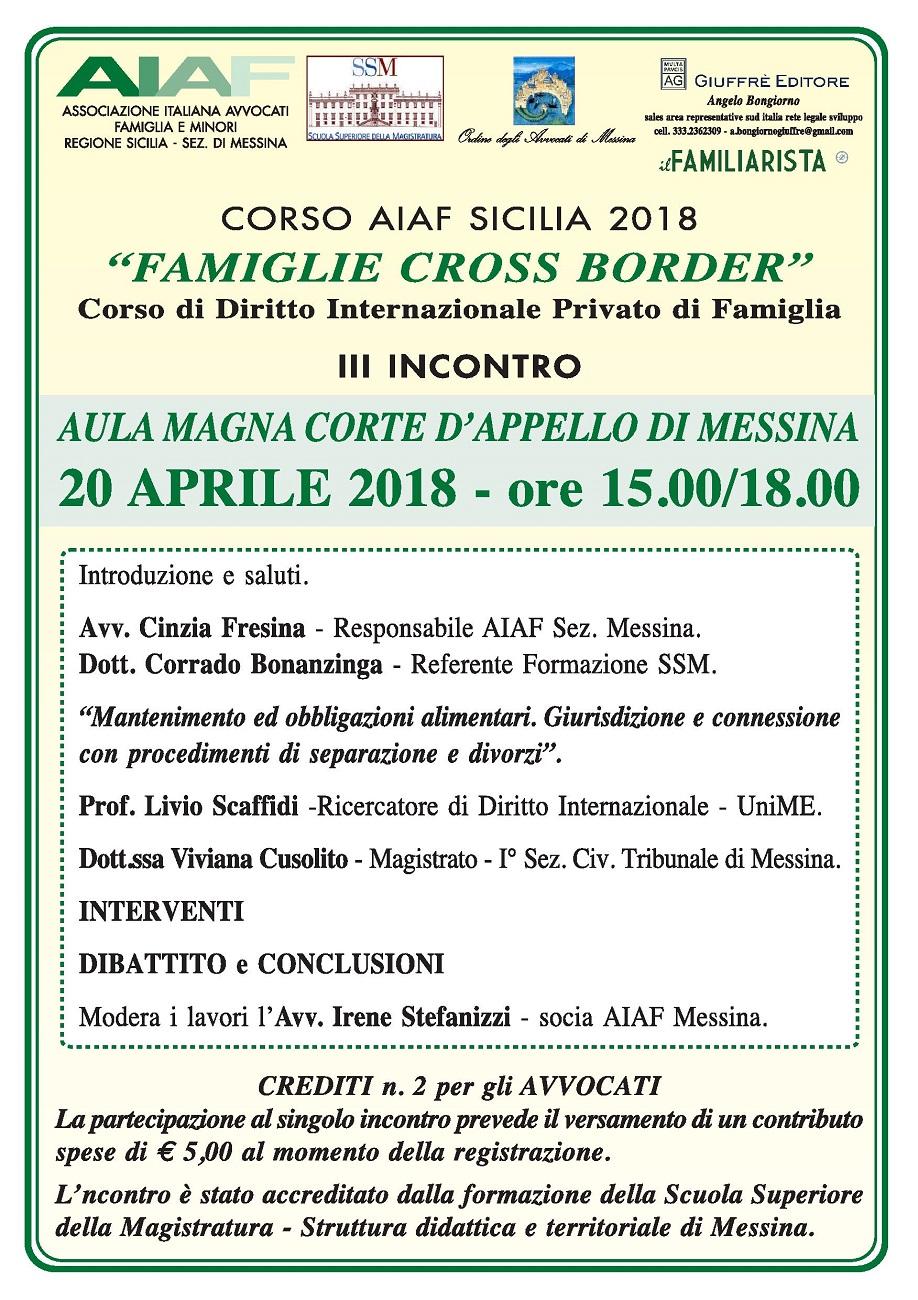 Famiglie Cross Border - III incontro