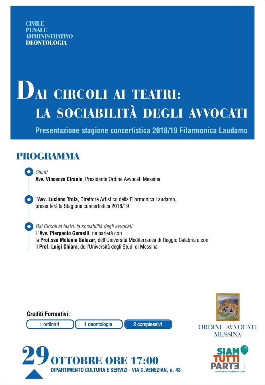 Dai Circoli ai Teatri: La sociabilità degli Avvocati