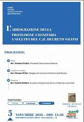 L abrogazione della protezione umanitaria disposta dal c.d. Decreto Salvini