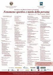 Settimana del Diritto Sportivo (dal 3 al 7 dicembre 2018)