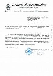 RIPUBBLICAZIONE AVVISO PUBBLICO PER FORMAZIONE E AGGIORNAMENTO ELENCO AVVOCATI PER AFFIDAMENTO INCARICHI DI RAPPRESENTANZA E DIFESA LEGALE DEL COMUNE