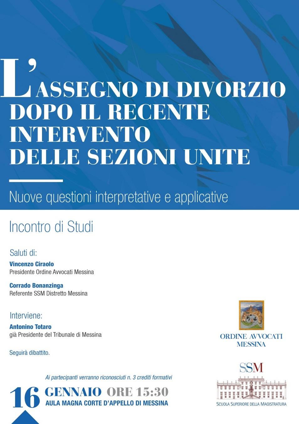 L assegno di divorzio dopo il recente intervento delle sezioni unite