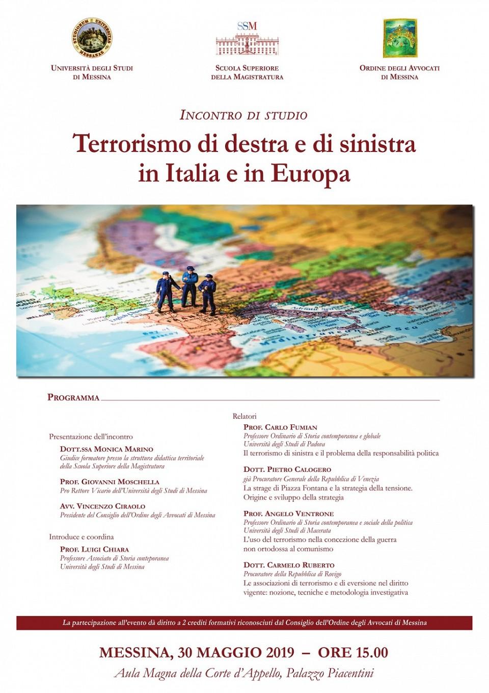 Terrorismo di destra e di sinistra in Italia e in Europa