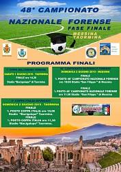 Fasi finali del 48^ Campionato Nazionale Forense- Messina/Taormina 1 e 2 giugno 2019