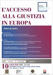 L accesso alla giustizia in europa