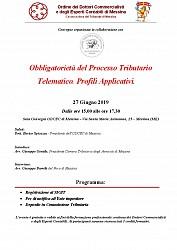Convegno Camera Tributaria - Obbligatorietà del Processo Tributario Telematico.