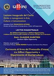 Lezione inaugurale del corso  Diritto e management in Arte, Cultura e Comunicazione