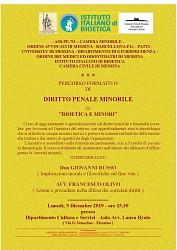 Diritto Penale Minorile - Bioetica e Minori