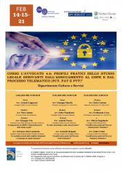 Corso l avvocato 4.0: profili pratici dello studio legale derivanti dall adeguamento al gdpr e dal processo telematico