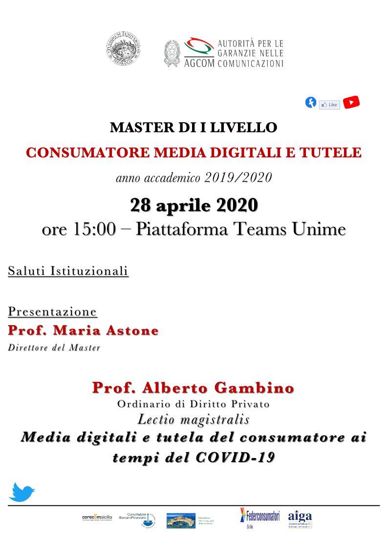 Media digitali e tutela del consumatore ai tempi del covid