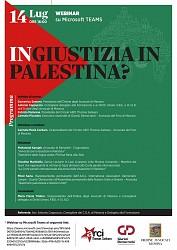 Webinar via TEAMS: (IN)GIUSTIZIA IN PALESTINA?