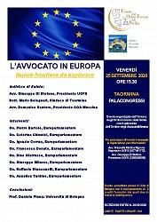 L Avvocato in Europa - nuove frontiere da esplorare - memento