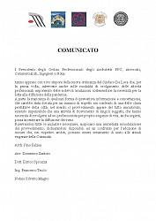 Comunicato stampa Ordini Professionali Messina